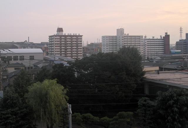 病院から見た我が家